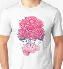 Creative Brains with peonies  Unisex T-Shirt