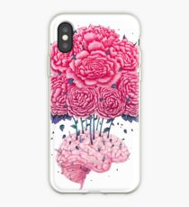 Creative Brains with peonies  iPhone Case