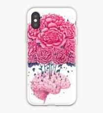 Vinilo o funda para iPhone Creative Brains with peonies