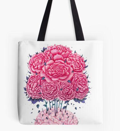 Creative Brains with peonies  Tote Bag