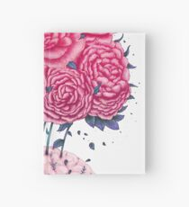 Creative Brains with peonies  Hardcover Journal