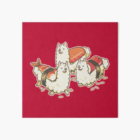 Alpaca Sushi Niguiri Art Board Print