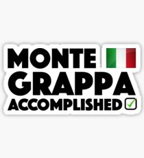 Monte Grappa Accomplished Giro D'Italia Italy Cycling Climb Sticker