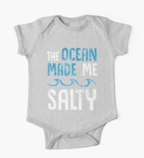 The Ocean Made me Salty Hipster Surfer  Kids Clothes