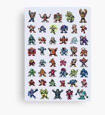 MegaMan 1to6 Robot Masters Canvas Print