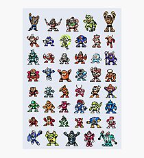 MegaMan 1to6 Robot Masters Photographic Print