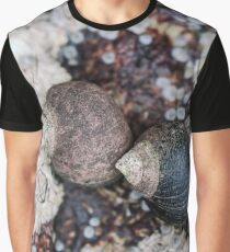 Periwinkles and Barnacles on a rock Graphic T-Shirt
