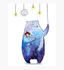 Galaxy Bear Photographic Print