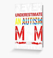 Never Underestimate Autism Mom Prayer Plan Tshirt T-Shirt  Greeting Card