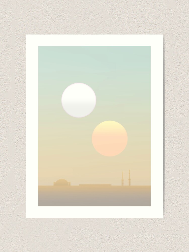 Alternate view of two suns Art Print