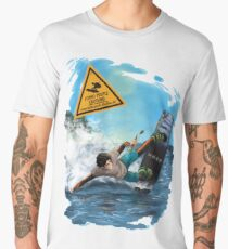 Wakeboarder spray Men's Premium T-Shirt