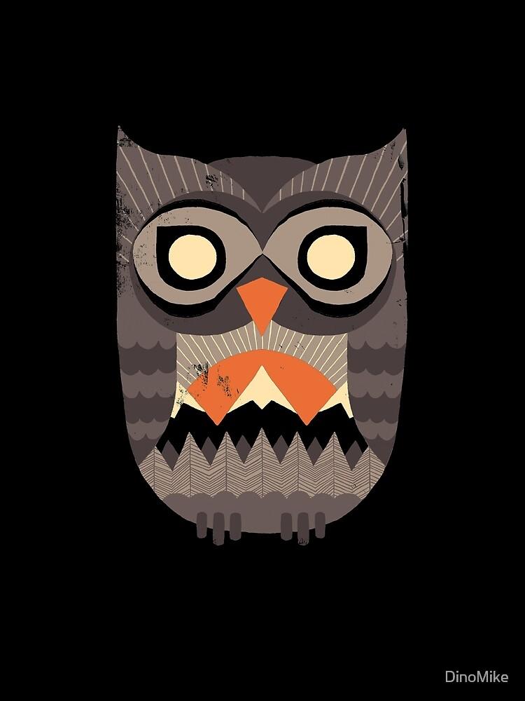 Owl Sunrise by DinoMike