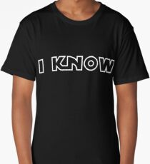 """Star Wars - Leia and Han """"I know."""" Long T-Shirt"""