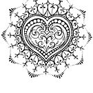 Heart Mandala by Julie Clarke by Flaminggun