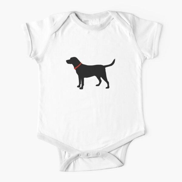 Labrador Retriever, Black Lab Short Sleeve Baby One-Piece