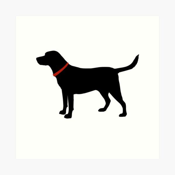 Labrador Retriever, Black Lab Art Print