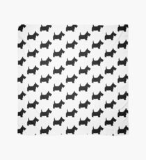 Scottie Dog Pattern Scarf