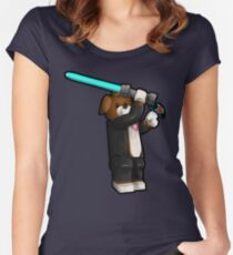 Beagle Jedi Illustration Women's Fitted Scoop T-Shirt
