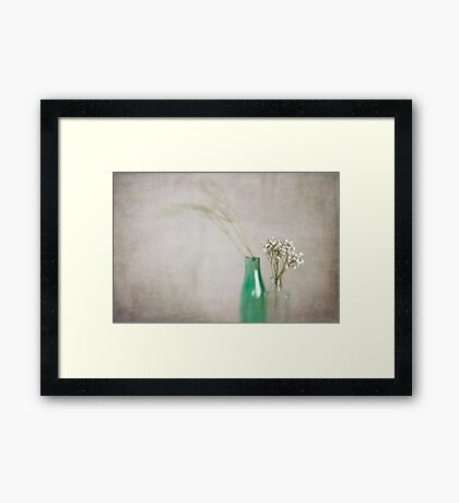 Simplicity In Green Framed Print