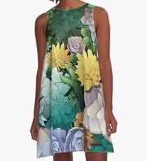 Succulent World A-Line Dress