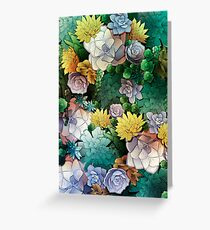 Succulent World Greeting Card