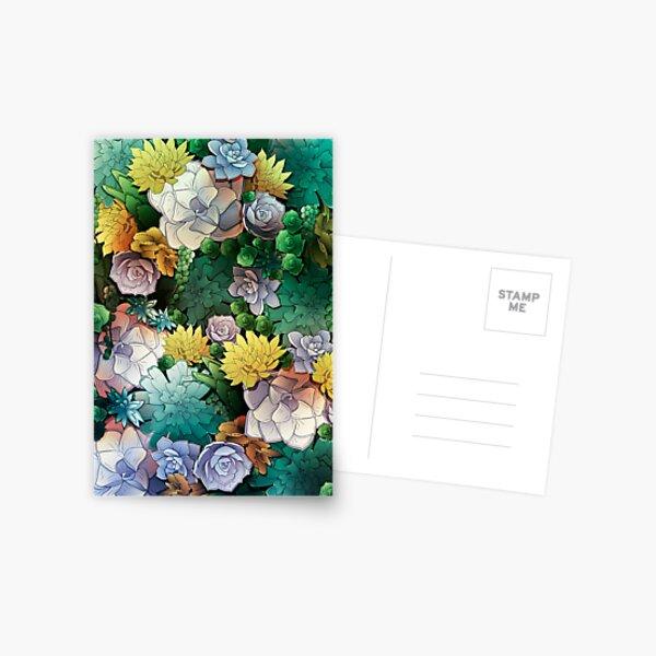 Succulent World Postcard