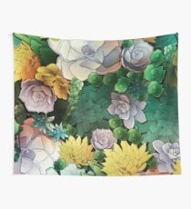 Succulent World Wall Tapestry
