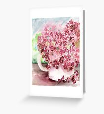 Geraniums in a Cup Greeting Card