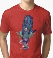 Spectral Cat Tri-blend T-Shirt