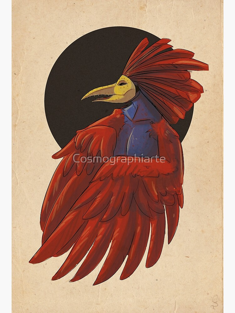 Gallo with mask by Cosmographiarte