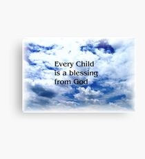 Childs Blessing Canvas Print