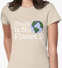 There Is No Planet B Womens Fitted T-Shirt