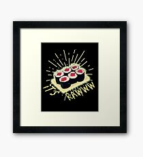 Funny Raw Cooked Sushi Framed Print