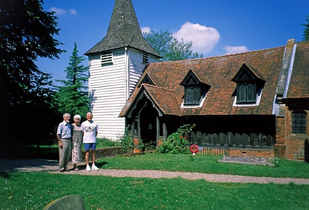 The Oldest Wooden Saxon Church by Priscilla Turner