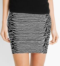 CP 1919 - Joy Division Unknown Pleasures: White on clear Mini Skirt