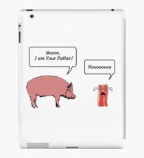 Bacon, I am your farther! - Star Wars Parody iPad Case/Skin