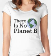 There Is No Planet B - Inverse Women's Fitted Scoop T-Shirt