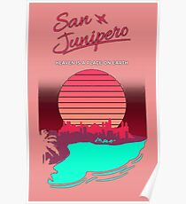 junipero sunset Poster