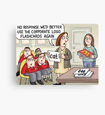 Corporate Flashcards Canvas Print
