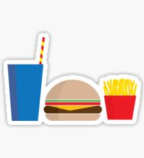Fast Food Meal Sticker