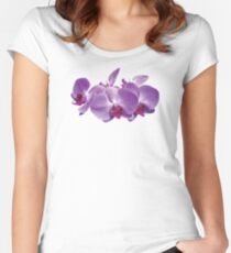 Purple Orchid Trio Women's Fitted Scoop T-Shirt