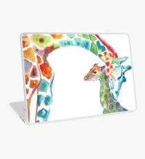 Giraffe Mommy and Baby Laptop Skin