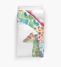 Giraffe Mama und Baby Bettbezug