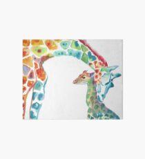 Giraffe Mommy and Baby Art Board