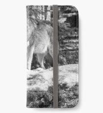 Timber Wolf Winter Menaces iPhone Wallet/Case/Skin