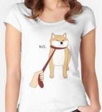 Shiba Inu No Women's Fitted Scoop T-Shirt