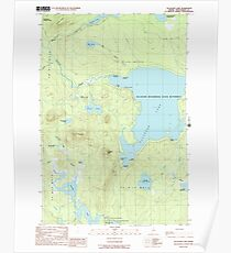 Maine USGS Historical Map Allagash Lake 104865 1989 24000 Poster