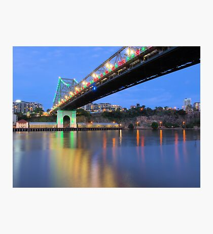 Christmas Bridge Photographic Print