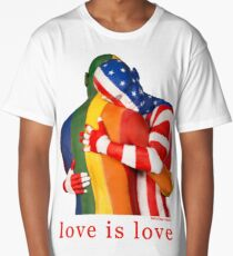 Love Is Love - Rainbow Pride Long T-Shirt