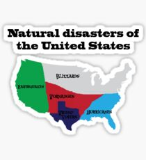 Natural Disasters Of The United States Trump Voters Sticker